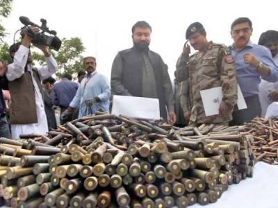 Afghan Refugees Camp operation: Explosives, mines and detonators seized by FC
