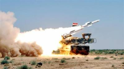 Syrian Army Air Defence intercepts several missiles fired by Israeli warplanes