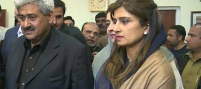 Ishaq Dar, Hina Rabbani Khar file nomination papers for Senate Elections
