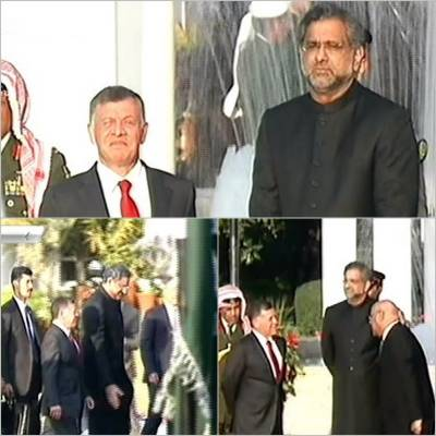 King Abdullah-II given unprecedented honour upon arrival in Islamabad