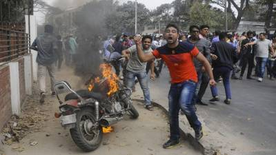 Violent clashes between supporters of former PM Khaleda Zia and Security Forces in Dhaka