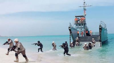 Pakistan Saudi Arabia Navies joint counter terrorism drills at Karachi