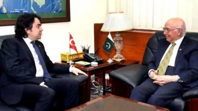 Sartaj stresses need for early conclusion of FTA b/w Pakistan and Turkey