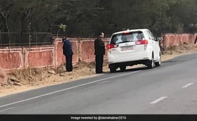 Indian BJP Minister urinates in public bringing huge embarrassment for government