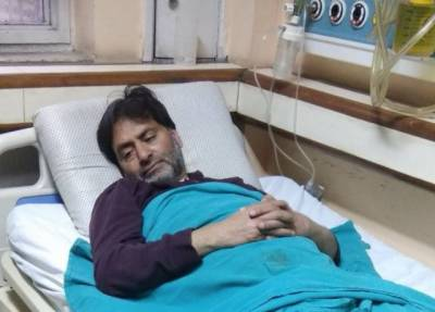 JKLF Chairman Yasin Malik admitted in hospital over deteriorating health