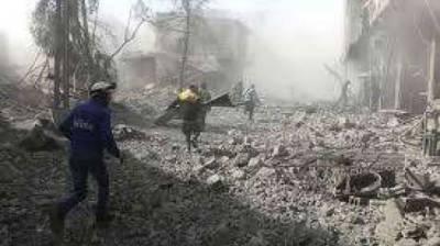 Russian Center in Syria comes under massive shelling