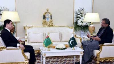 Pakistan PM holds meeting with Turkeministan President