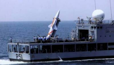 Indian Military test fires tactical nuclear missile from warship