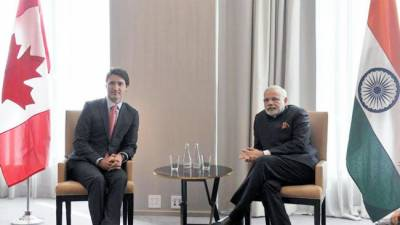 India's Modi meets Canadian Trudeau