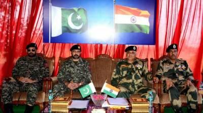 Pakistan Rangers - Indian BSF meet on international border