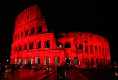 Why Rome's ancient Colosseum turned red against Pakistan