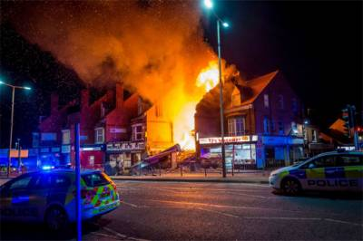 4 injured after explosion, building collapse in UK's Leicester