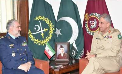 Iranian Air Force Chief holds meeting with COAS General Bajwa