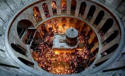 Jesus burial site in Jerusalem closed