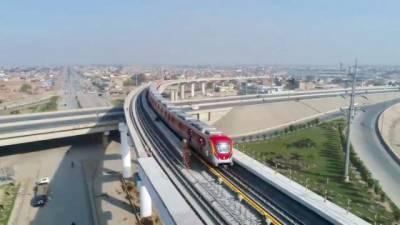 Lahore Orange Line Metro Train successfully complete trial run