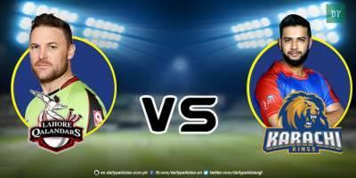 PSL-2018: Karachi Kings Vs Lahore Qalandars live score update