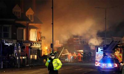 Six injured in explosion in Leicester city of UK