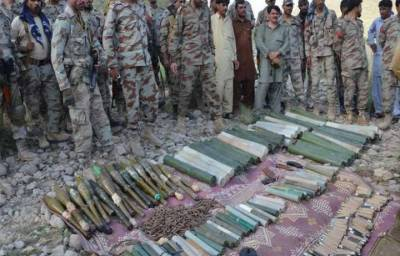 FC seizes ammunition in Balochistan under Operation Rad-ul-Fasaad