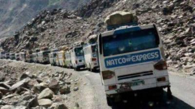 Traffic restored on KKH b/w Rawalpindi and Gilgit Baltistan