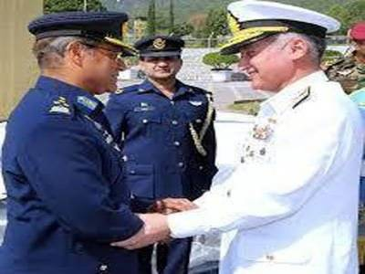 Air Chief Marshal Sohail Aman pays farewell call on Navy Chief