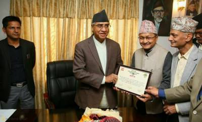NC President Deuba elected Parliamentary Party leader in Nepal