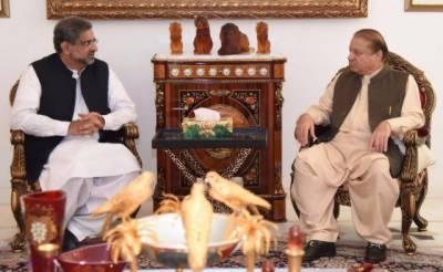 PM Shahid Khaqan meets Nawaz Sharif