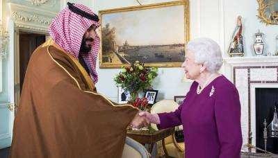 Saudi crown Prince meets Theresa May in London