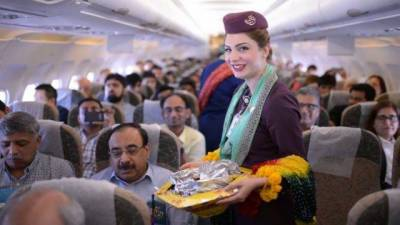 VIDEO: PIA Airhostess dance onboard flight to celebrate season of boom