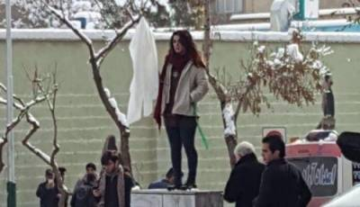 Iranian girl jailed for 2 years for publicly removing her veil in protest