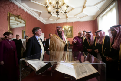 Saudi Prince visits Archbishop of Canterbury in London to promote interfaith harmony