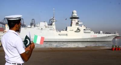 Italian Navy Ship arrives in Karachi