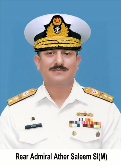 Pakistan Navy promotes Ather Saleem as Rear Admiral