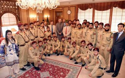 Students of cadet college Mastung visit PM House