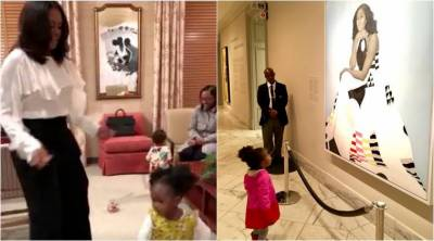 VIDEO: Michelle Obama dancing with the little girl