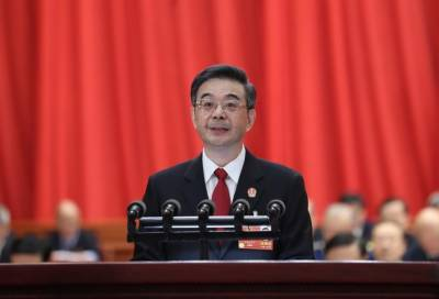 China's Supreme People's Court presented five-year judicial performance report in NPC