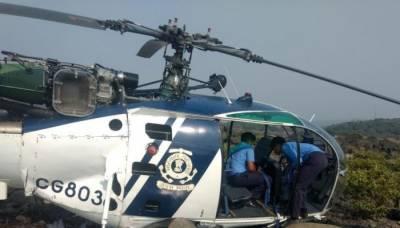 Indian Military Helicopter crashes off coast Mumbai
