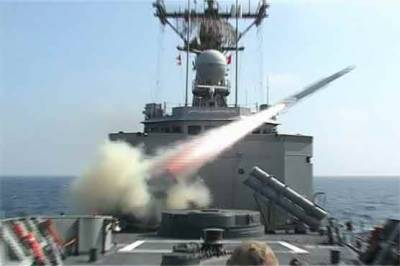 Pakistan Navy test fires land based anti ship missile in Arabian Sea