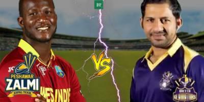 PSL 3: Peshawar Zalmi Vs Quetta Gladiators live score update
