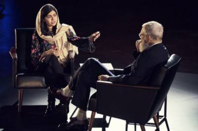Malala talks about fighting militancy with education in Letterman interview