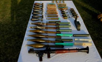 Security Forces recover huge weapons cache