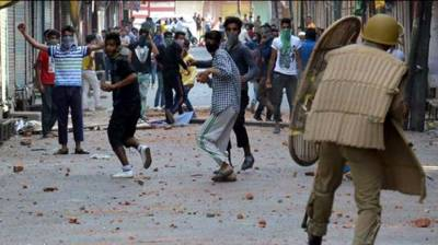 Massive clashes in Occupied Kashmir after martyrdom of three youth by Indian Army
