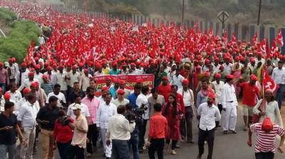 Over 30,000 farmers protesting in India