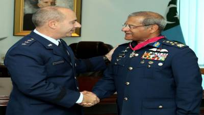 PAF Chief honoured with highest ever military award by US to any foreign military Chief