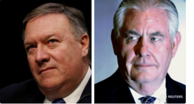 BREAKING: US Secretary of State Rex Tillerson sacked, CIA Chief Pompeo replaces him