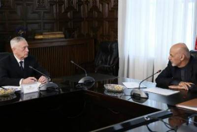 US Defence Secretary Mattis - President Ghani discuss Taliban, Pakistan