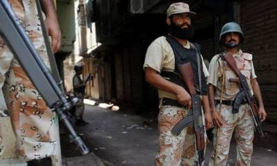 Five terrorists killed in Karachi in a deadly encounter with Rangers