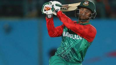 ICC fines Bangladesh's Shakib over bad behaviour in tri-series T20