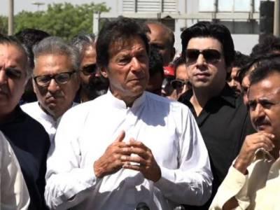 Imran Khan hits out at Bilawal, Zardari upon arrival at Karachi
