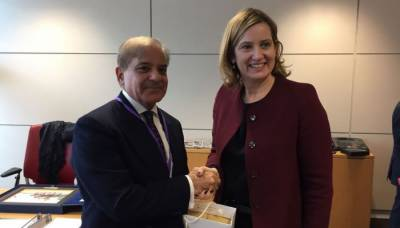 CM Shahbaz Sharif holds important meeting with British Home Secretary in London