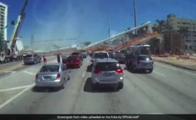 VIDEO: Bridge collapses in US crushing people and cars beneath it